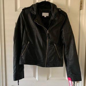 Pleather Black Jacket